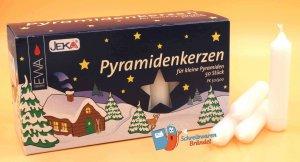 Pyramidenkerzen Weiß 50 Stück
