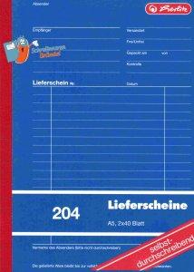 Lieferscheinbuch Herlitz A5