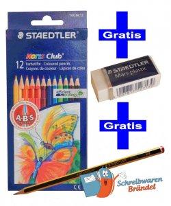 Buntstifte / Farbstifte Staedtler + Radiere + Bleistift