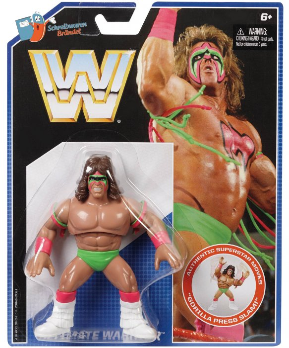 WWE Mattel Retro Figur Ultimate Warrior