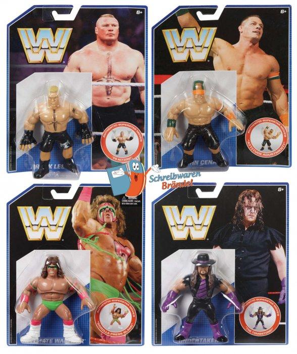 WWE Mattel Retro Serie 1 Lesnar - Warrior - Undertaker - Cena