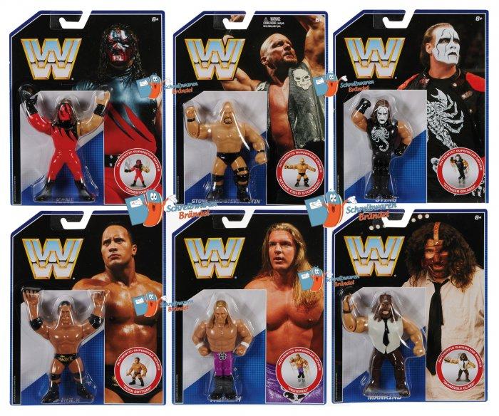 WWE Mattel Retro Serie 2 Mankind - Kane - Rock - Austin - Sting - HHH