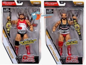 WWE Mattel Elite Then Now Forever Natural Disasters Typhoon & Earthquake