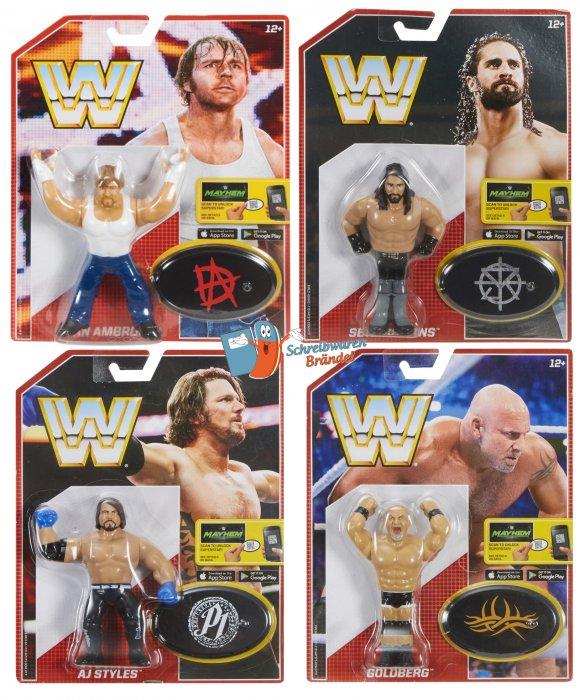 WWE Mattel Retro Serie 3 Goldberg - AJ Styles - Seth Rollins - Dean Ambrose