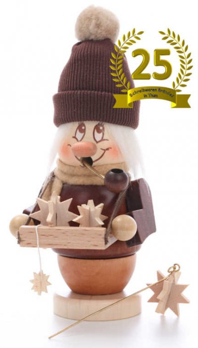 Miniwichtel Räuchermann Adventssternverkäufer - Limitierte Edition