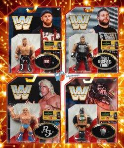 WWE Mattel Retro Serie 4 Finn Balor - Kevin Owens - Ric Flair - Sami Zayn