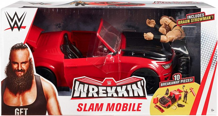 WWE Mattel Basic Braun Strowman mit Slam Mobile