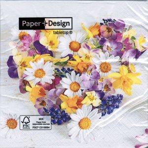 Servietten Paper+Design Flower Heart