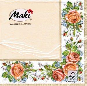 Servietten Maki Vintage Roses Cream