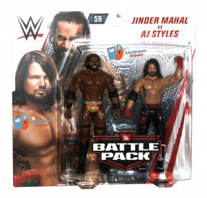 WWE Mattel Battle Pack Serie 59 AJ Styles und Jinder Mahal