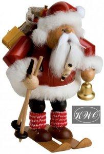 Räuchermann Weihnachtsmann auf Skiern von KWO