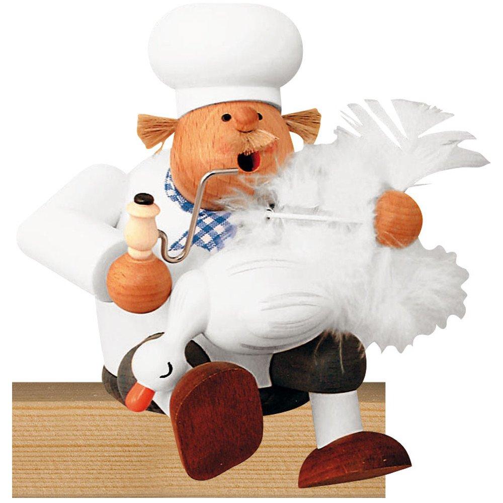 Räuchermann Kantenhocker Koch mit Gans von KWO