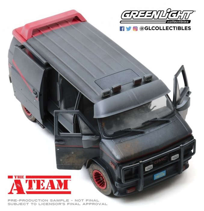 Greenlight Chevy GMC A-Team Van 1:18 Dirty Version Weathered