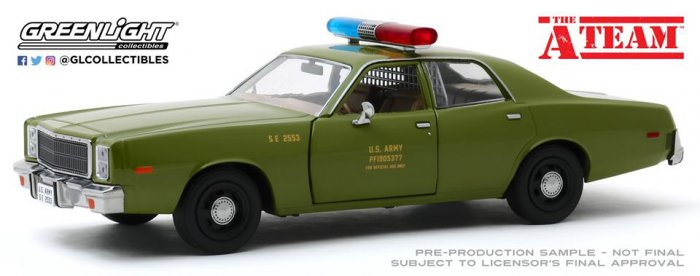 Greenlight A-Team 1977 Plymouth Fury Colonel Decker 1:24