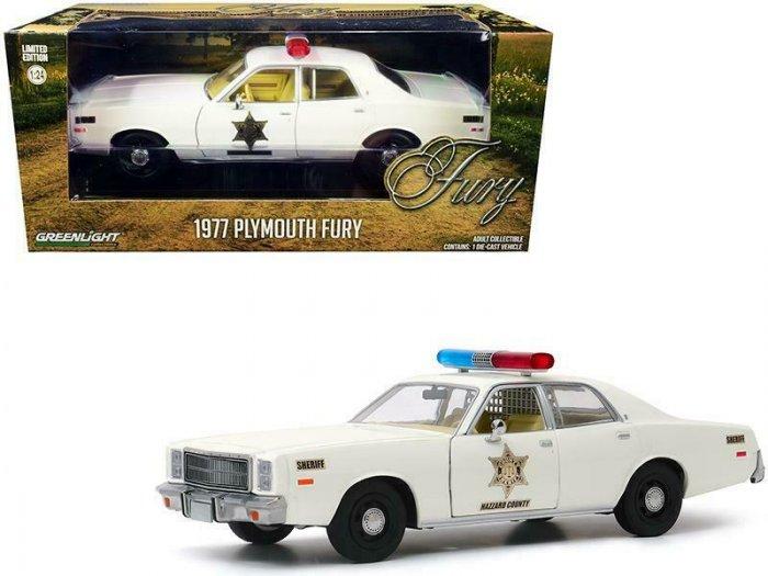 Greenlight 1977 Plymouth Fury Hazzard County Sheriff 1:24