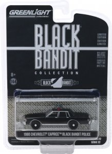 Greenlight Black Bandit Serie 22 1980 Chevrolet Caprice Police 1:64