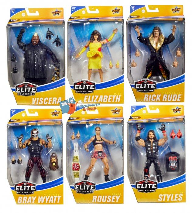 WWE Mattel Elite Serie 77 Komplett