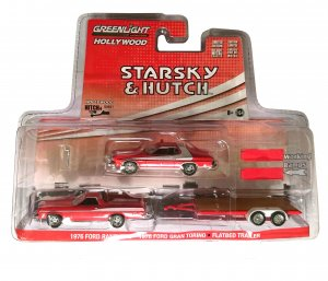 Greenlight Hitch and Tow Starsky and Hutch 1976 Ford Ranchero mit Hänger und 1976 Ford Gran Torino 1:64