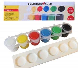 Schulmalfarben Eberhard Farber 6 Napf Set mit Mischpalette
