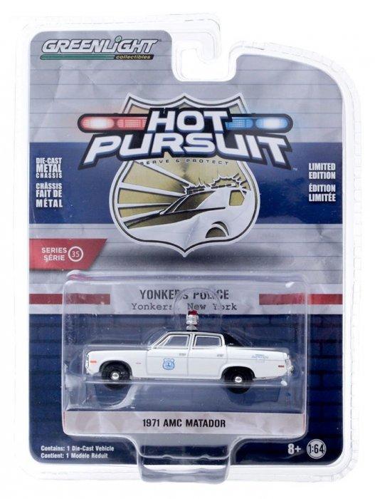 Greenlight Hot Pursuit Serie 35 1971 AMC Matador 1:64