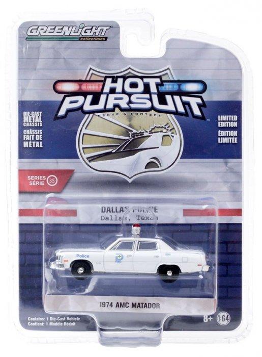 Greenlight Hot Pursuit Serie 35 1974 AMC Matador 1:64