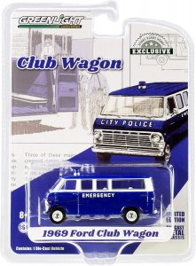 Ford 1969 Club Wagon City Police Greenlight 1:64