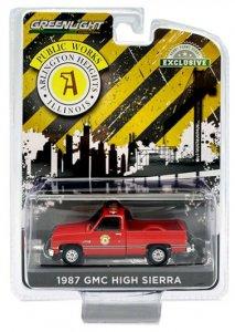 Greenlight 1987 GMC High Sierra Arlington Heights Illinois Public Works 1:64