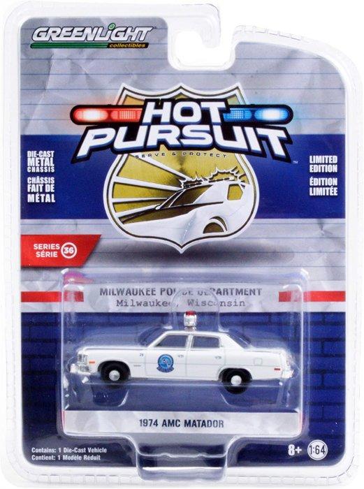 Greenlight Hot Pursuit Serie 36 1974 AMC Matador 1:64