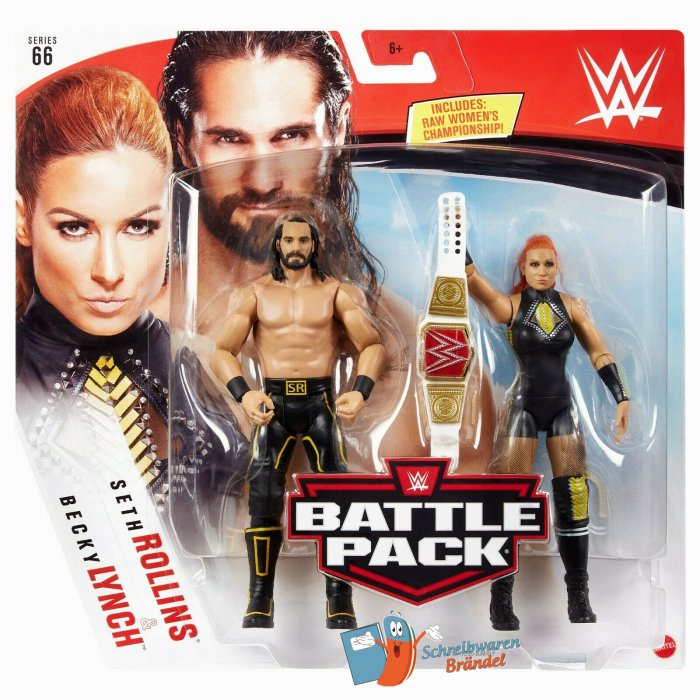 WWE Mattel Battle Pack Serie 66 Seth Rollins und Becky Lynch