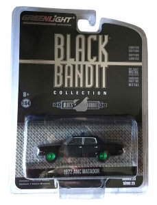 Greenlight Black Bandit Serie 23 1972 AMC Matador Police 1:64 Green Machine