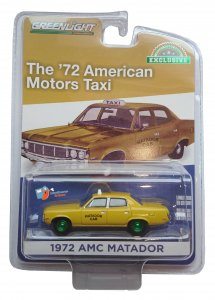 Greenlight 1972 AMC Matador - Cab Taxi 1:64 Green Machine