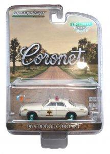 Greenlight 1975 Dodge Coronet Hazzard County Sheriff 1:64 Green Machine