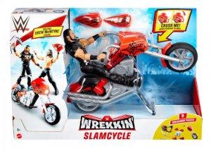 WWE Mattel Wrekkin Basic Drew Mc Intyre mit Slam Cycle Motorrad