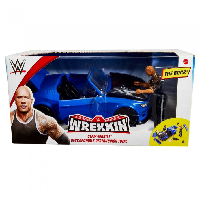WWE Mattel Wrekkin Basic The Rock mit Slam Mobile