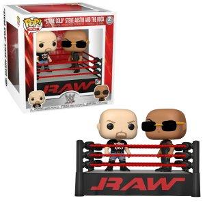 WWE Funko Pop Vinyl Figur Steve Austin vs The Rock
