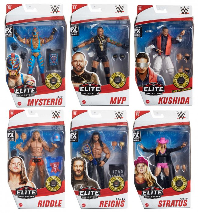WWE Mattel Elite Serie 88 Komplett
