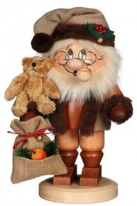 Christian Ulbricht Wichtel Räuchermann Weihnachtsmann mit Teddy