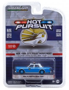 Greenlight Hot Pursuit Serie 37 1982 Plymouth Gran Fury 1:64