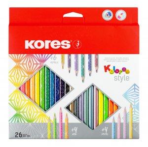 Buntstifte Kolores Style 26 Stück - Pastell - Metallic - Neon