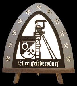 Standleuchte LED Bergstadt Ehrenfriedersdorf mit Förderturm