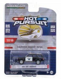 Greenlight Hot Pursuit Serie 38 1993 Jeep Cherokee 1:64